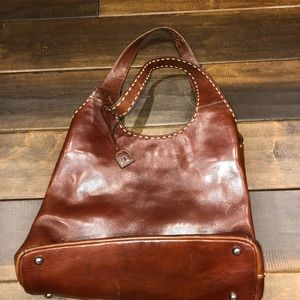 El portal brown leather purse